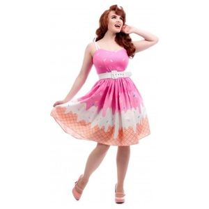 Collectif Jade Ice cream Swing Dress Pinup Pink